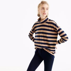 J. Crew Oversized Striped Turtleneck
